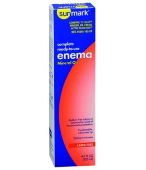 Mineral Oil Enema 135mL Ready to Use Sunmark McKesson 1012624- 1 Each