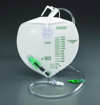 Bard 2000mL Urine Drainage Bag with Anti-Reflux Chamber 154002- 1 Each
