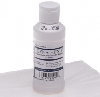 Dyna-Hex Surgical Scrub 4% CHG 4 Ounce Bottle 1061DYN04VA- 1 Each