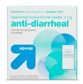 Up and Up Anti-Diarrheal Caplets 2mg Loperamide HCL 87868- Box/48