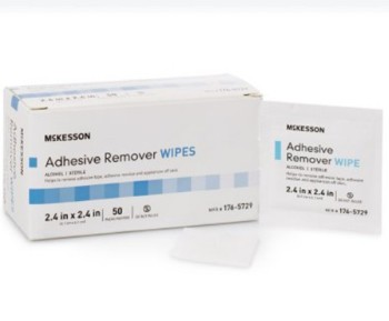 Adhesive and Tape Remover Wipes Sterile McKesson 1765729- Box of 50