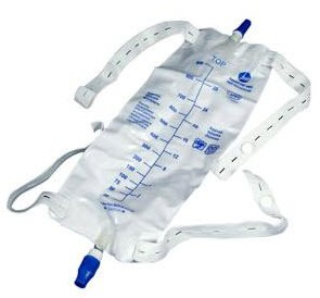 Case of AMSure Leg Bags with Straps 900mL Twist Turn AS309N- Case/48
