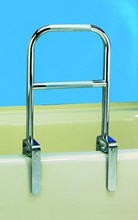 Chrome Finish Bathtub Rail- Dual Grip- Carex CEXB20300- 1 Each