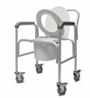 Commode Alum 3in1 with Back Bar & Casters- Graham Field 2215B2- 1 Each