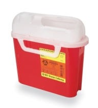 BD Sharps Containers Patient Room 5.4 Qt Red BD305543- Case of 20