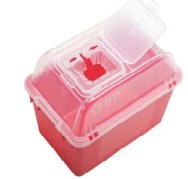 BD 305344 Sharps Collector 8 Qt Funnel Top Red- Case of 24