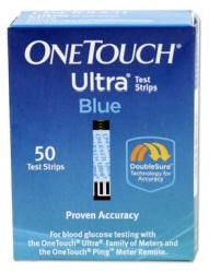 OneTouch Ultra Test Strips Blue- Mfr# LFS020244- Box of 50