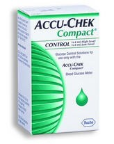 Accu-Chek Compact Control Solution Mid/High Level 05382289160- 2 Pack