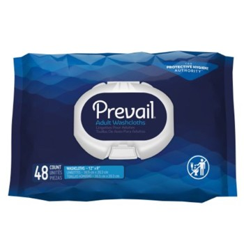 Prevail Personal Wipes Soft Pack Disposable Washcloths WW710- Pack/48