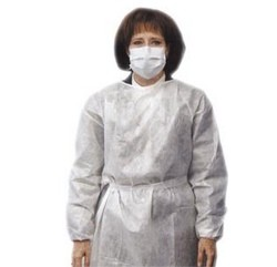 Protective Gowns White Impervious Poly Laminated LF AMD 8022- Pack/10