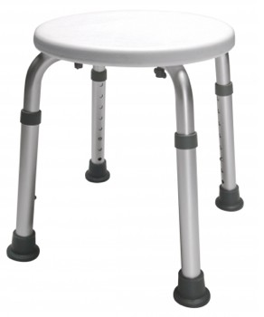 Lumex Bath Stool Round Height Adjustable Graham Field 2060R1- 1 Each