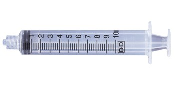 Box of 10mL Syringes BD 302995 No Tip Shield Luer-Lok Tip- Box of 200