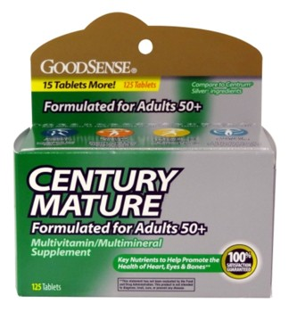 Multivitamin Tablets Adults 50 Plus Century Mature LP12705- Pack/125