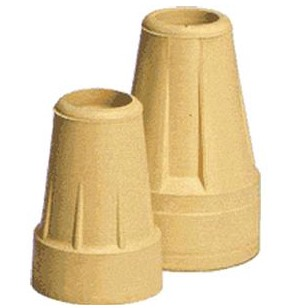 Carex Crutch Tips Extra Large 7/8 Inch Tip Size Tan Color A95200- 1 Pair