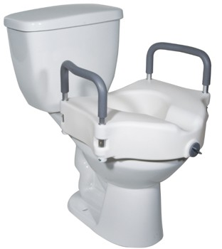 Seat Toilet Raised 5 Inch Padded Arms Drive Med RTL12027RA - 1 Each