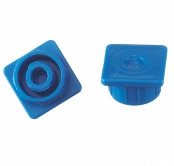 Case of Multi-Ad Luer Lock Syringe Caps Blue SC3000 418013- Case/500