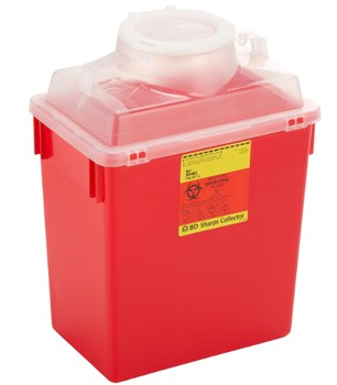 Case of BD 6 Gallon Sharps Containers Funnel Top BD 305457- Case/12