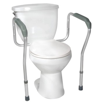 Toilet Safety Frame with Armrests Knocked Down Drive 12001KD1- 1 Each