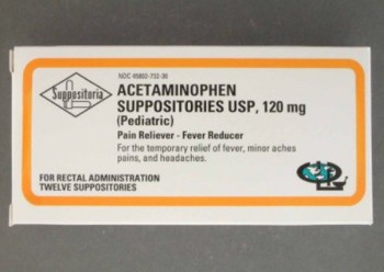 Acetaminophen 120mg Pain Relief Suppository 45802073230- Pack/12