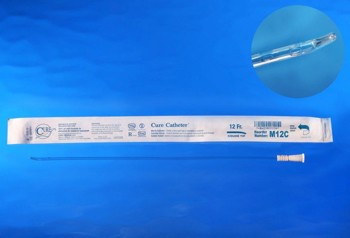 Box Cure Catheters 12Fr 16 Inch Sterile Coude Tip Male M12C- Box/30